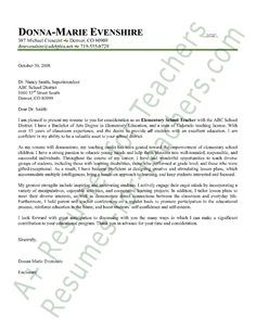 Elementary Teacher Cover Letter Sample Cover Letter Pinterest - Sample-cover-letter-for-elementary-teacher