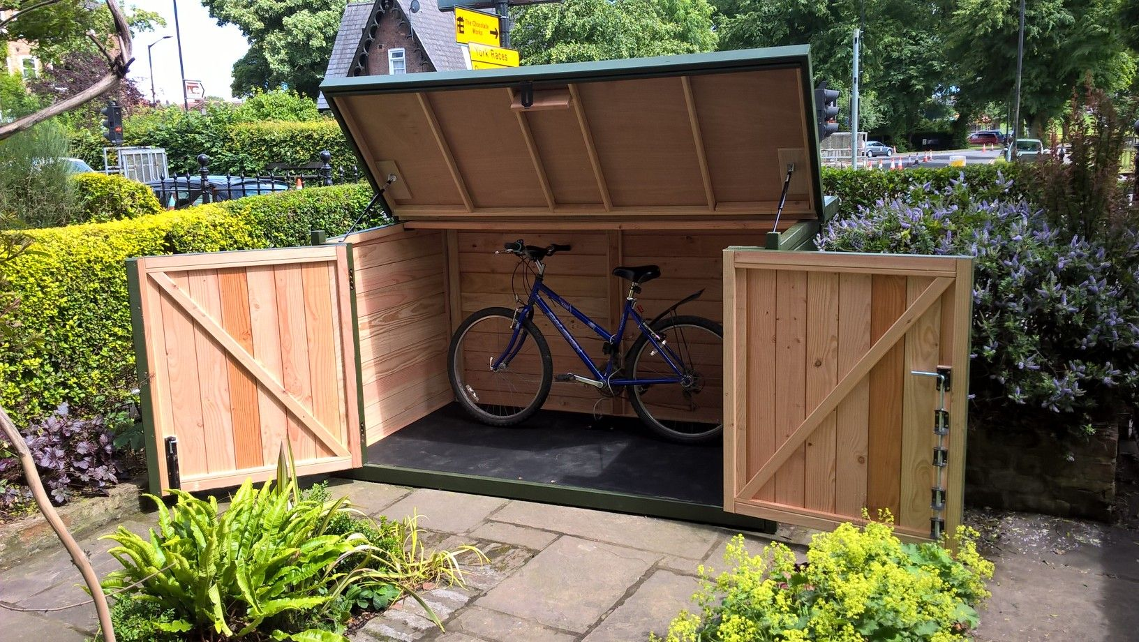 pin by a girl called fred on bin cupboard bike shed bike. Black Bedroom Furniture Sets. Home Design Ideas