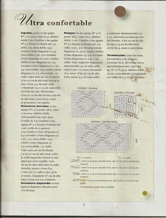 Patrón #119: Suéter Hombre a Dos Agujas ~ CTejidas [Crochet y Dos ...