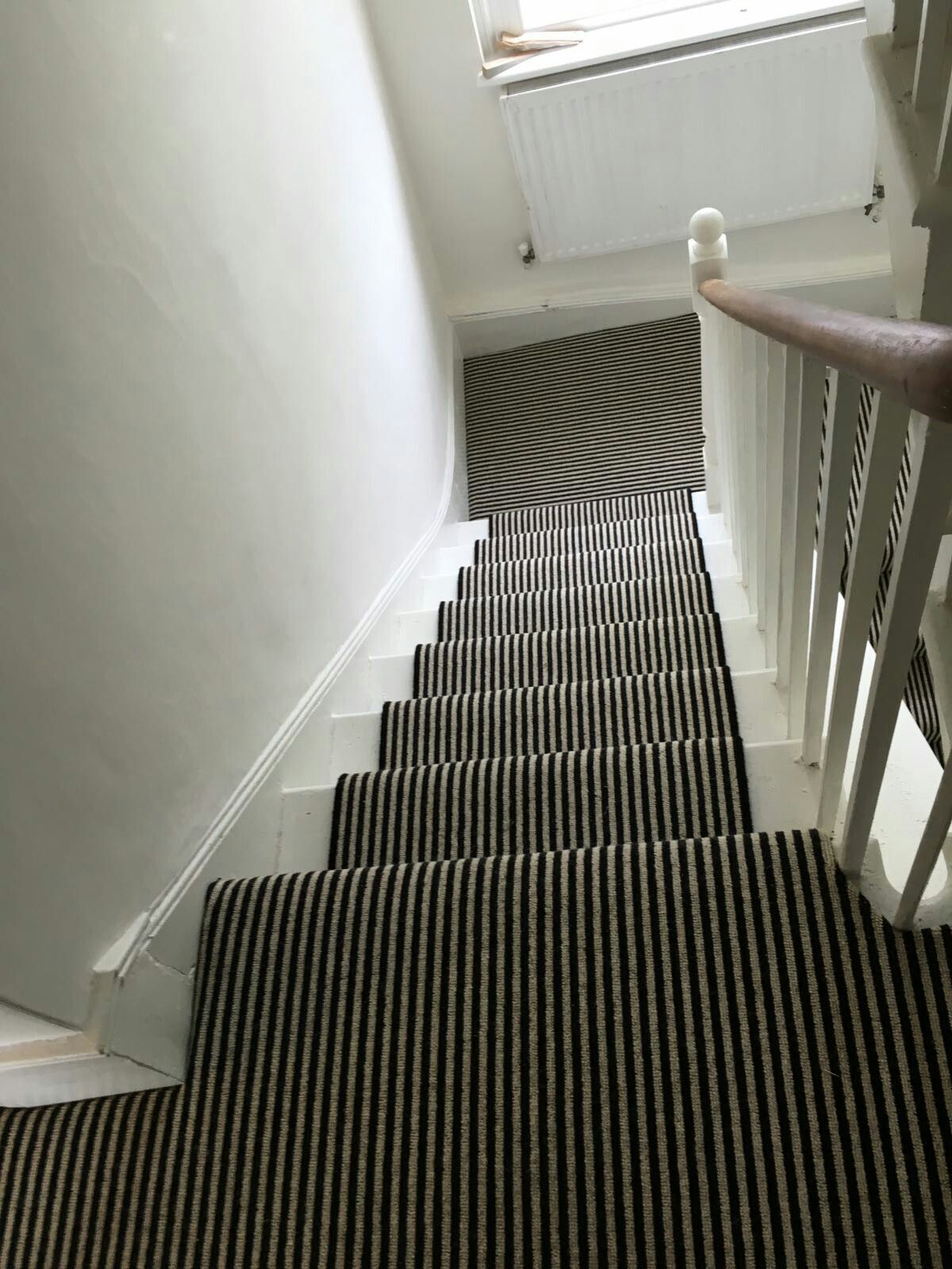 Black And White Striped Carpet Stair Runner With Images