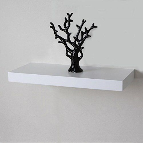 Naiture 24 X 10 X 2 Inch Floating Wall Shelf White Want Additional Info Click On The Image Floating Wall Shelves Wall Shelves Floating Wall Shelves White