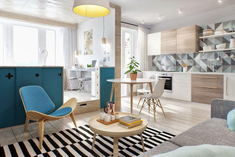 Vivre à deux dans un T1 de 40m² Vivre, Décorations et Espaces