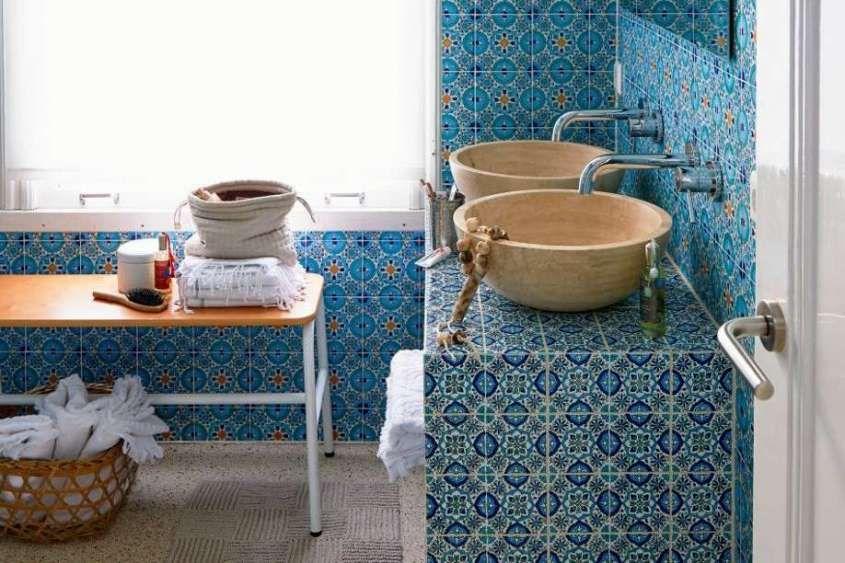 Piastrelle Da Bagno Colorate : Arredare il bagno in stile etnico bagni bathrooms