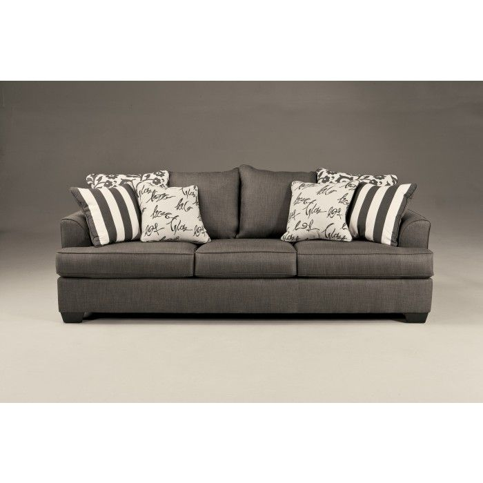 ... By Ashley Levon   Charcoal Queen Sofa Sleeper With Memory Foam Mattress    Del Sol Furniture   Sofa Sleeper Phoenix, Glendale, Tempe, Scottsdale,  Arizona