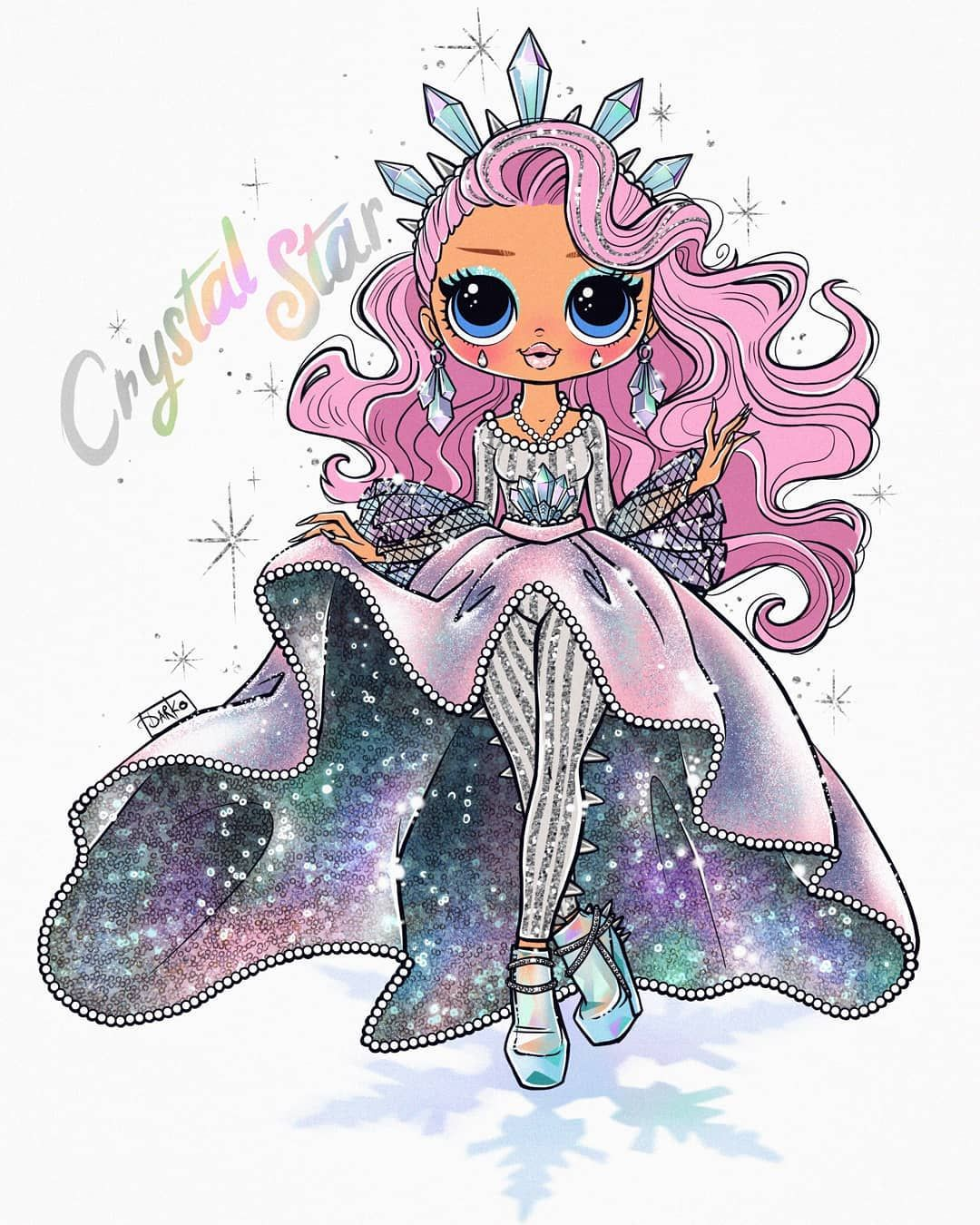 Darko Dordevic On Instagram Gorgeous Sparkly Crystal Star Lolsurprise Mgaentertainment Crystalstar Win In 2020 Lol Dolls Doll Drawing Cute Kawaii Drawings