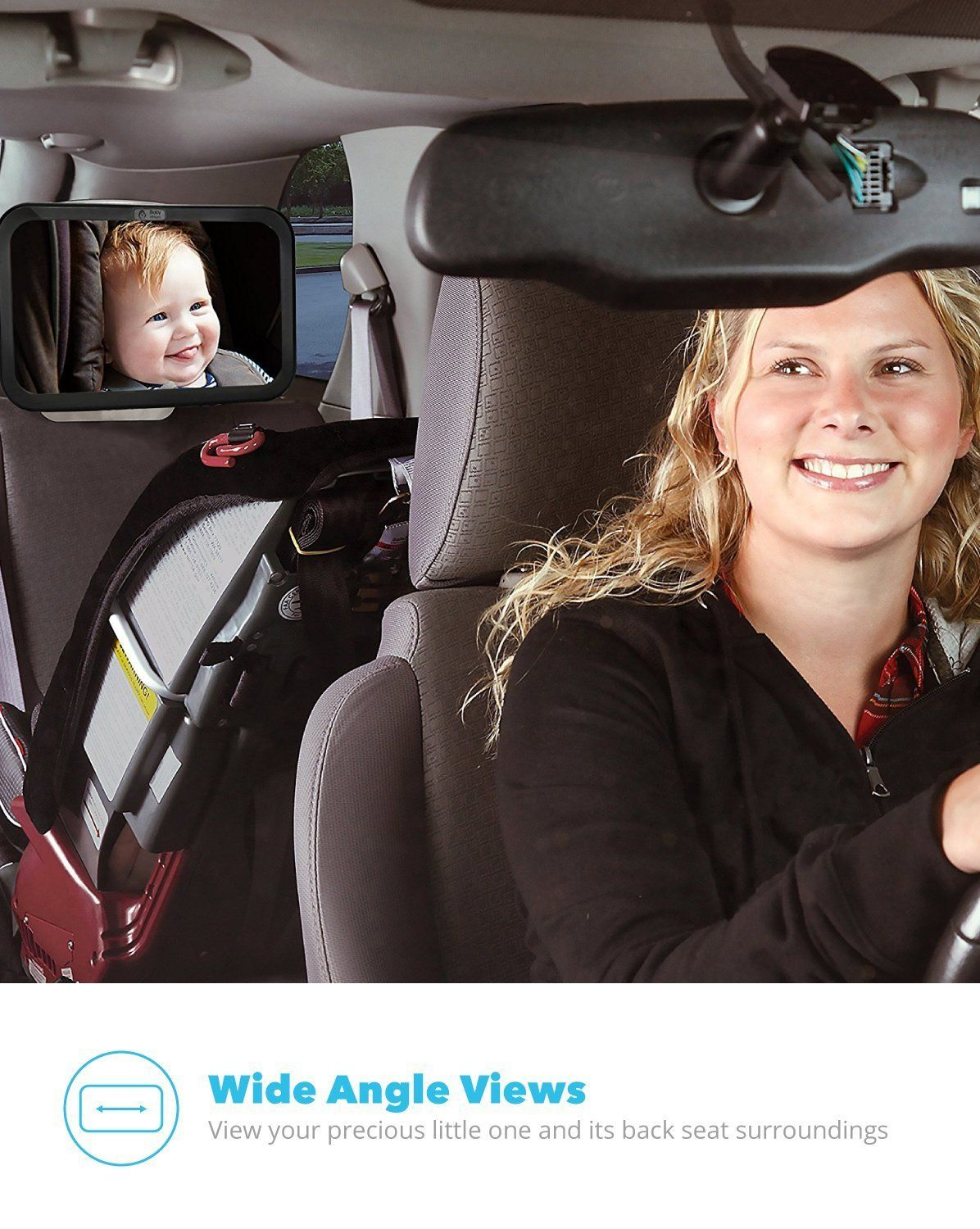 Amazon Com Baby Mom Back Seat Baby Mirror Rear View Baby Car Seat Mirror By Wide Convex Shatterproof Glass And Baby Car Seat Mirror Baby Mirror Baby Seat