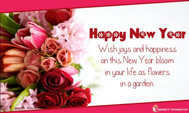 Happy New Year Greeting Card... | Happy New Year Cards | Pinterest