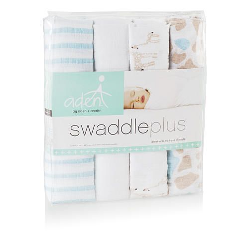 Receiving Blanket Vs Swaddling Blanket Aden®Aden Anais® Swaddleplus® 4Pack  Wild About Giraffe