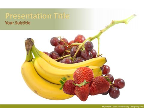 Fruits PowerPoint Template AHA kadle Pinterest Free ppt - winter powerpoint template
