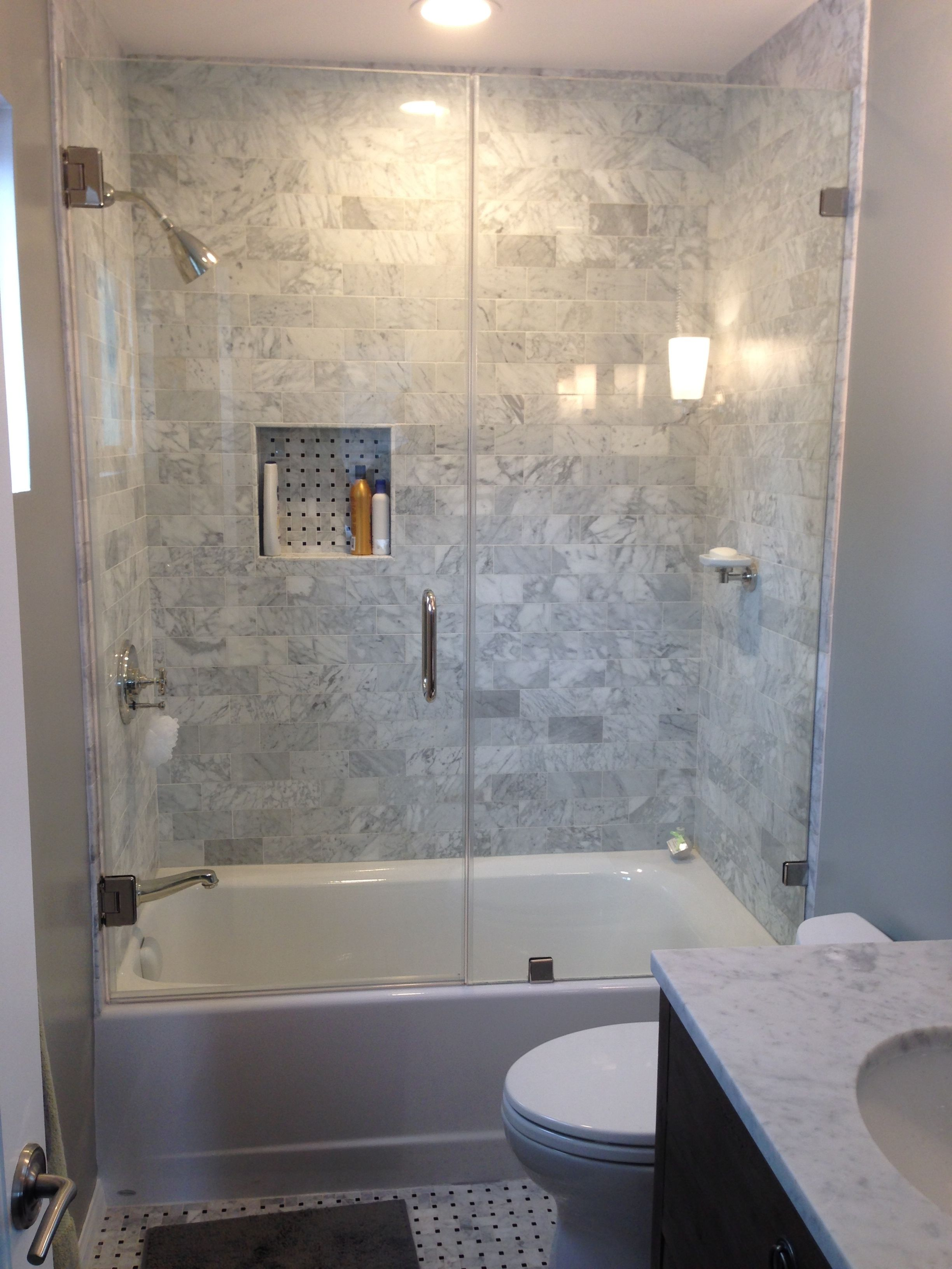 Shower Frameless Bathtub Shower Doors Power Up Glass Bathroom Within