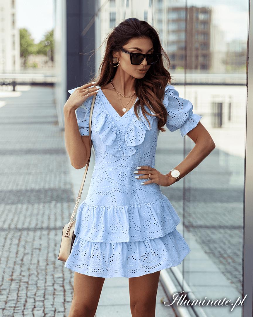 Lora Blekitna Sukienka Azurowa Bawelniana Baby Blue Dresses Dresses Fashion