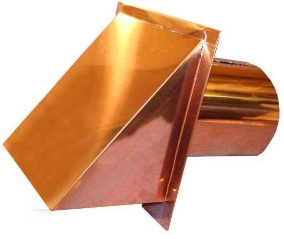 Heavy Duty Metal Vents In Copper Stainless And Galvanized By Luxury Metals Wall Vents Metal Roof Copper Wall