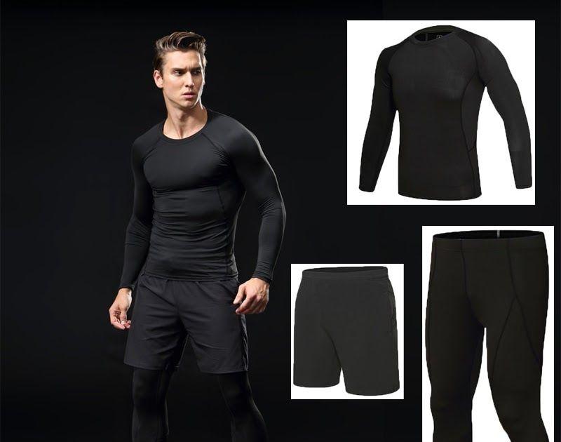 9412fa57b92 Best Seller BINTUOSHI 3pcs Men gym Fitness clothing sportswear male ...