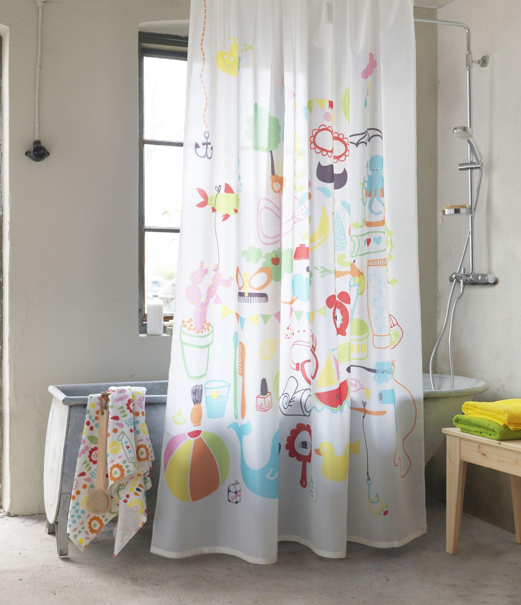 Salle De Bain Shower Curtain ~ apportez de la couleur dans la d co de votre salle de bain gr ce