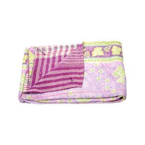 Vintage Kantha Quilt now featured on Fab.  Beautiful colors