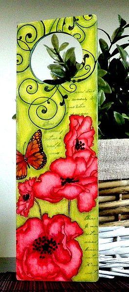 Stampinback.nl deurhanger (klaprozen) poppies