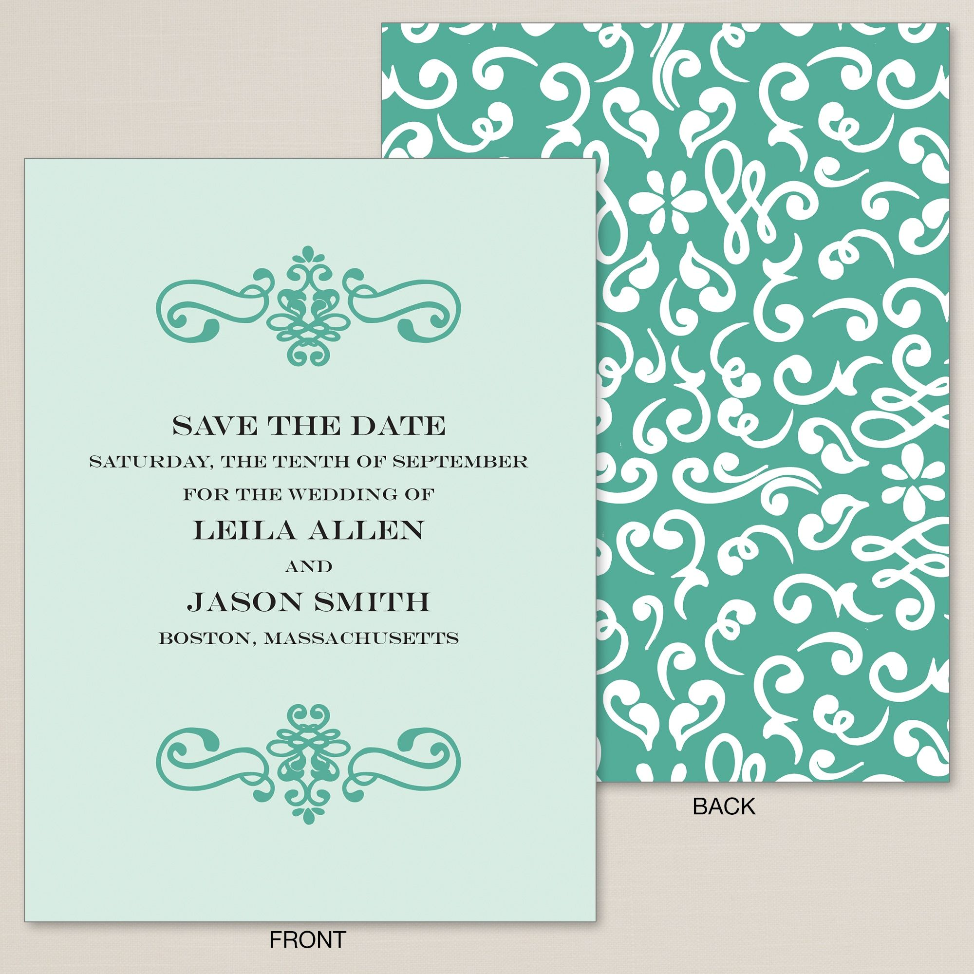 Bliss Save the Date Card exclusivelyweddings Save the