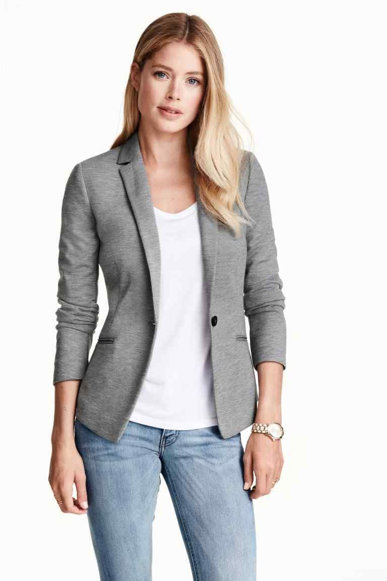 outlet store 6cb77 de10e Blazer in jersey | H&M | In my closet..... in 2019 | Fashion ...