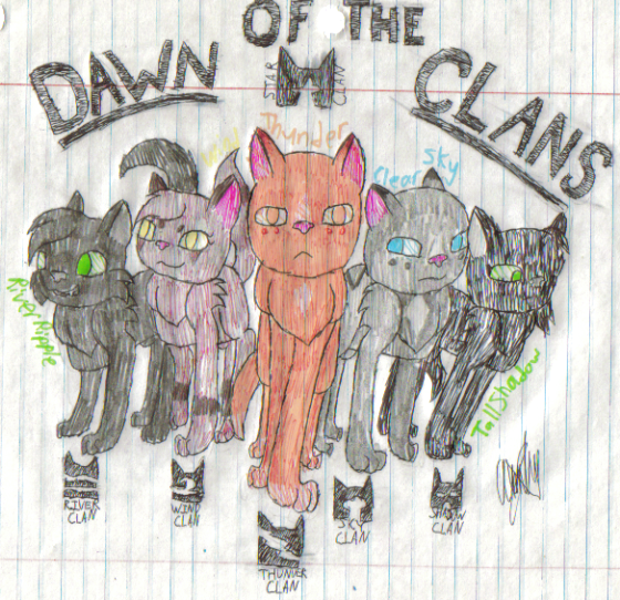 Warrior Cats Dawn Of The Clans Fanart: (I Did Not Draw This) Next Contest Is To Draw Any Leader U