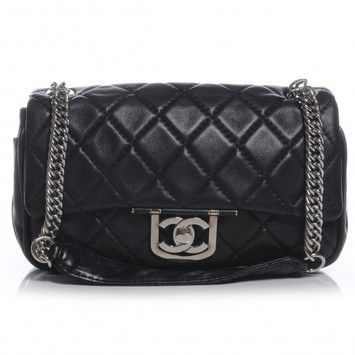 109bb384f7ce Chanel Icons Secret Label Classic Quilted Flap Lambskin Leather Silver  Hardware Shw Jumbo Cc Logo Medium Large 2.55 08c Shoulder Bag.