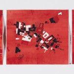 Brain Terrain (286, 285, 287)   Heidi Whitman   8½ x 28, flashe, ink, and gouache on paper