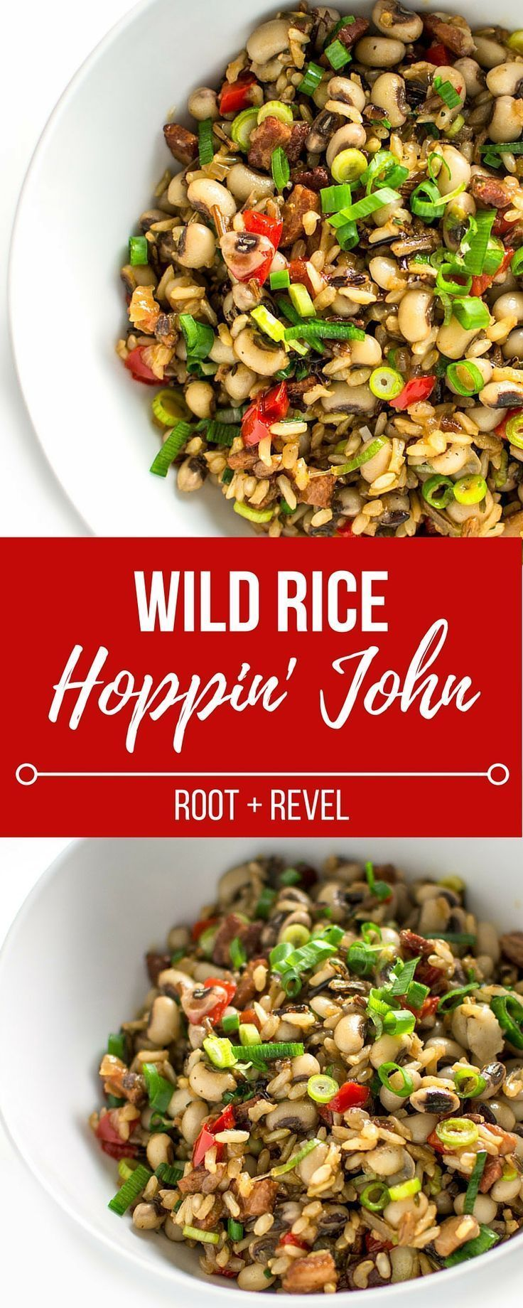 The classic Southern dish of Hoppin' John gets a colorful and nutritious boost from peppers, scallions and whole grain wild rice. Gluten-free and DELICIOUS! | http://rootandrevel.com