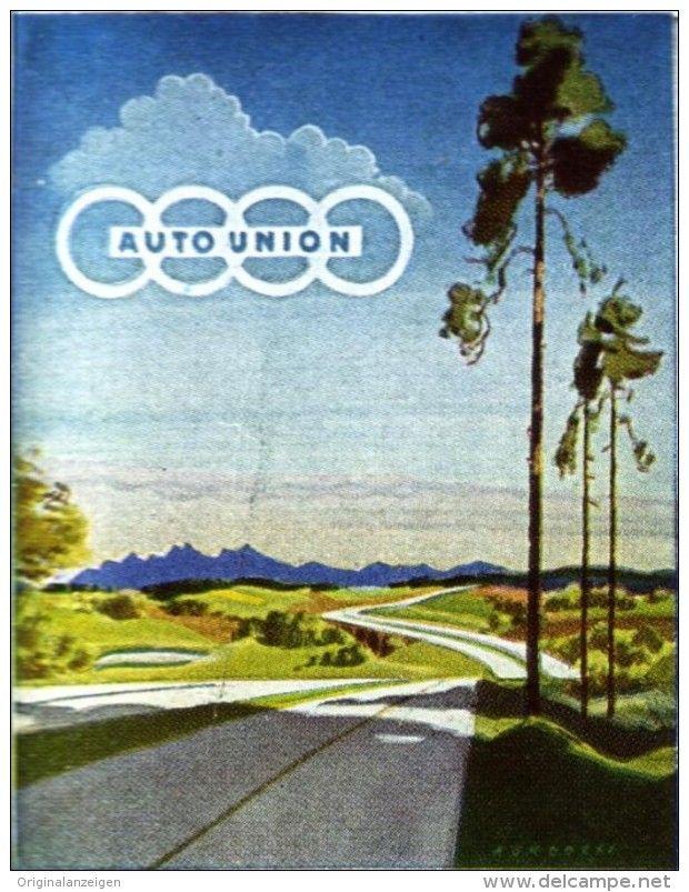 Original-Werbung/ Anzeige 1942 - VIERFARBANZEIGE : AUTO UNION - ca. 45 x 60 mm