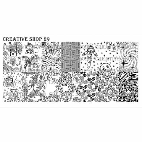 Creative Shop- Stamping Plate- 29