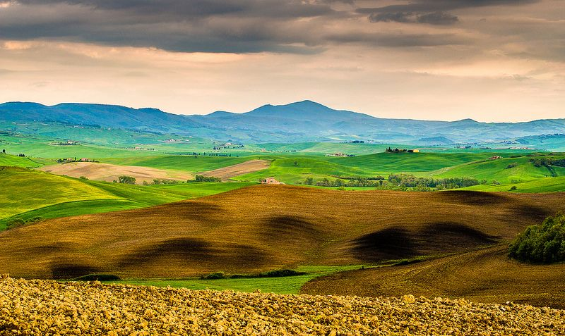 Tuscan landscape - mount Amiata in Val D'Orcia (explored)