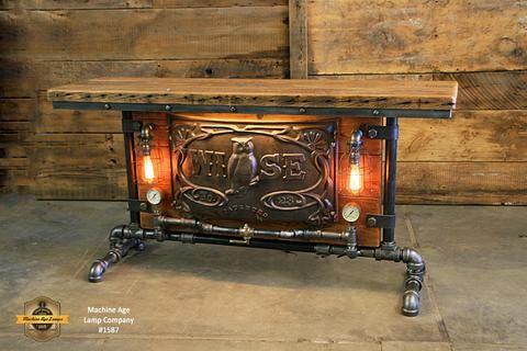 Steampunk Industrial Antique Boiler Door Wise Barn Wood