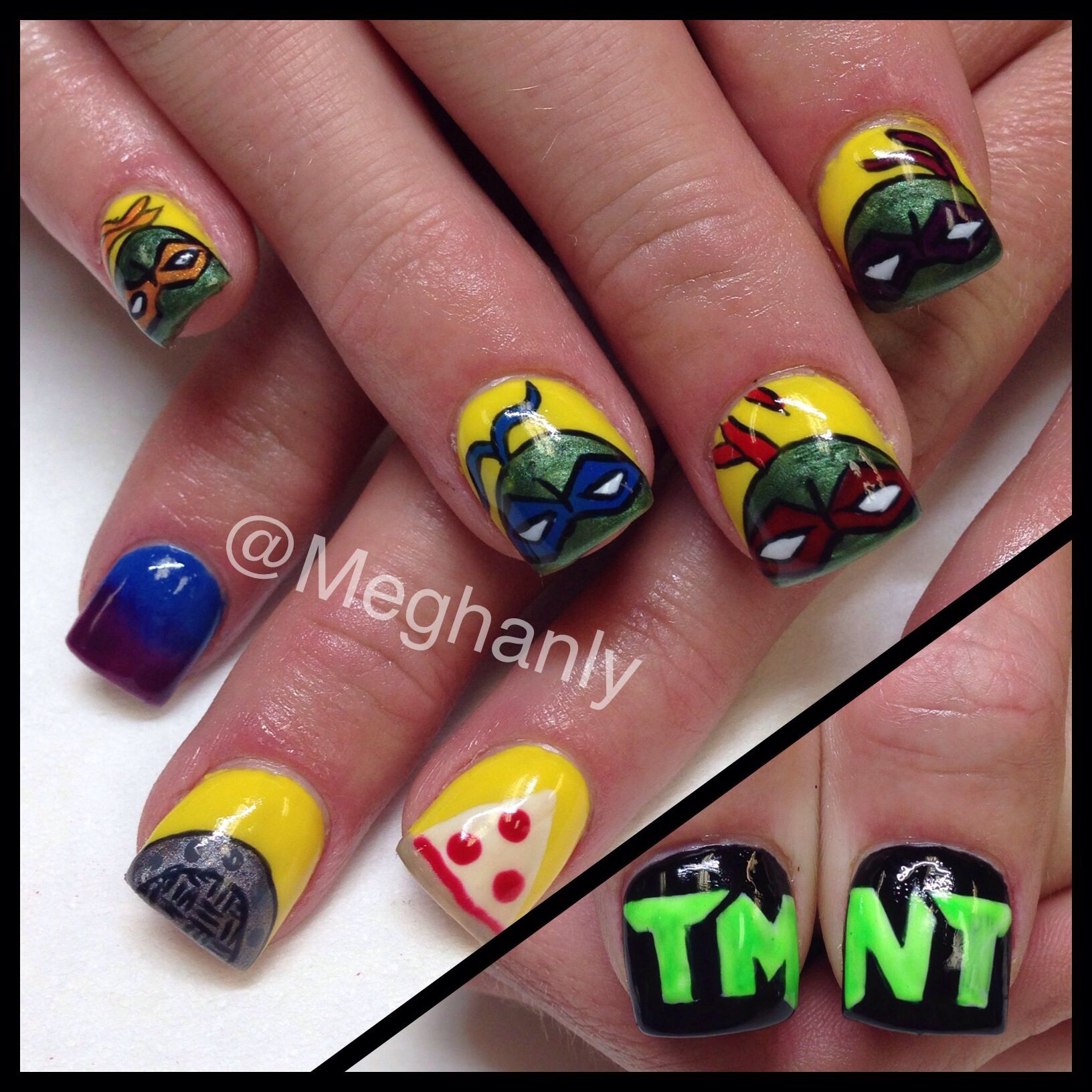 Teenage mutant ninja turtle nails nail art TMNT | Nails by me ...