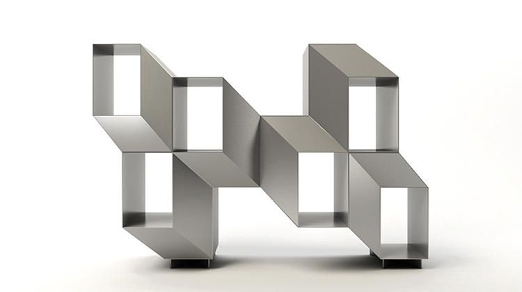 La Chance Rocky Credenza : This trippy credenza is an optical illusion for your living room