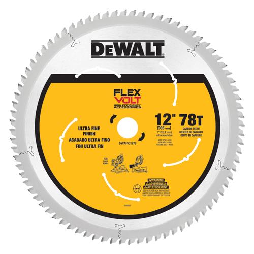 Dewalt Dwafv31278 Flexvolt Trade Large Diameter Circular Saw Blade 12 Circular Saw Blades Dewalt Circular Saw 12 Inch Miter Saw