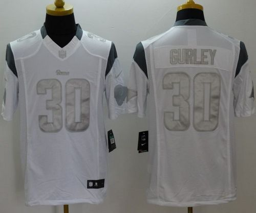 Nike Rams  30 Todd Gurley White Men s Stitched NFL Limited Platinum Jersey  And  Eric Berry jersey 67e001318