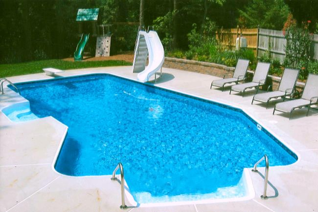 Image Result For Lazy L Shaped Pool Inground Pools Swimming Pools Simple Pool