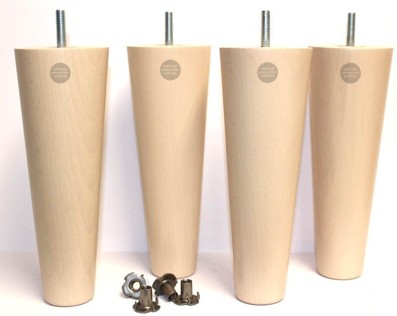 Adele tall round tapered wooden furniture legs furniture