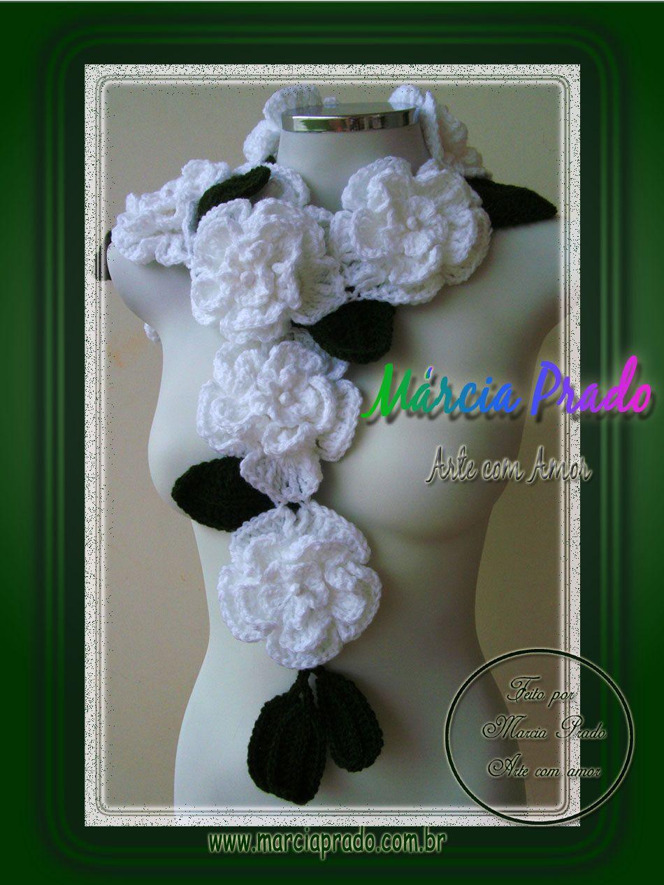 Márcia Prado ♥ Arte com Amor ♥: Cachecol Azaléia - via http://bit.ly/epinner