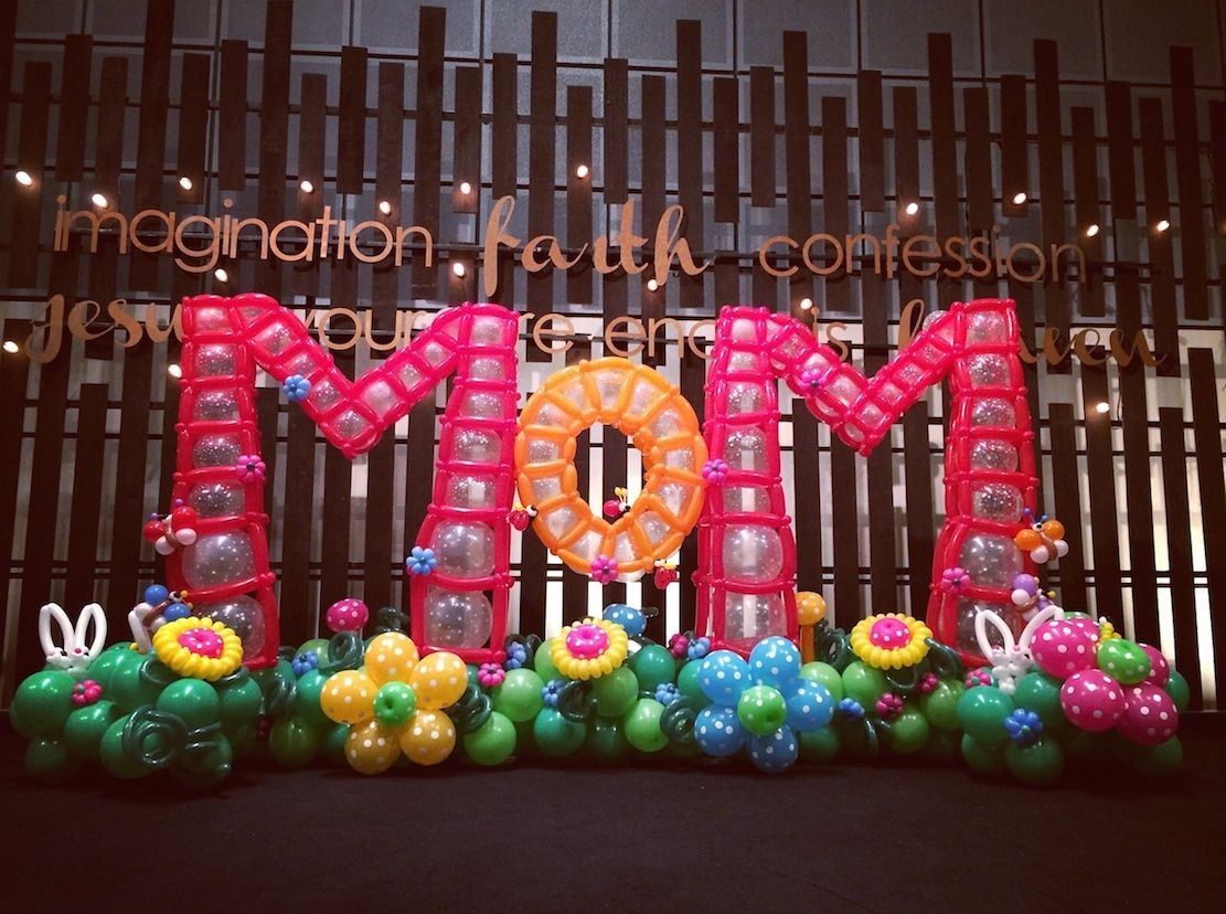 Balloon decorations for mother day singapore balloon for Balloon backdrop decoration