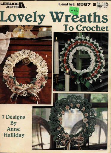 Lovely Wreaths - Carey Richards - Álbuns da web do Picasa...FREE BOOK AND WRITTEN PATTERNS!!