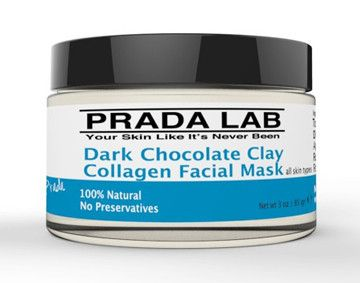 Cleanse Skincare — Prada Lab - Dark Chocolate Clay Collagen Facial Mask http://www.cleanseskincare.com.au/collections/prada-lab/products/dark-chocolate-clay-collagen-facial-mask