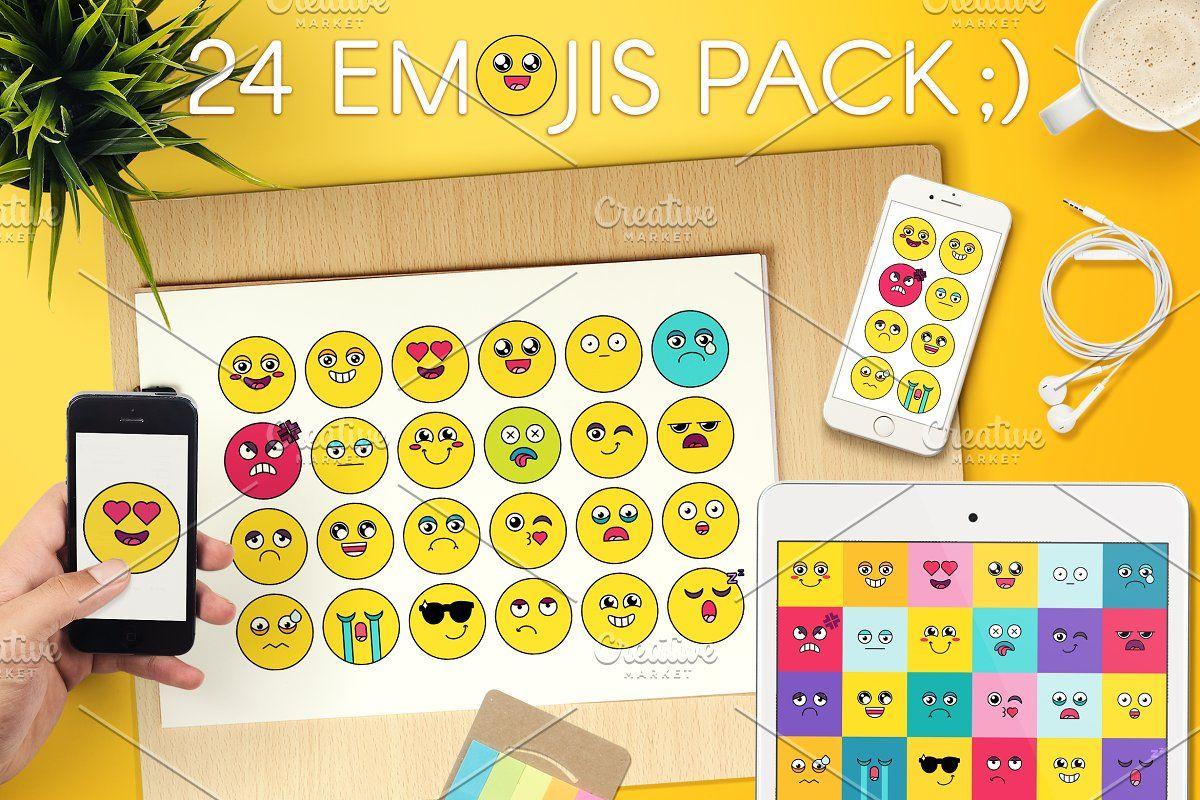 Comic Cute Emoji Sticker Pack , sponsored, emoticon