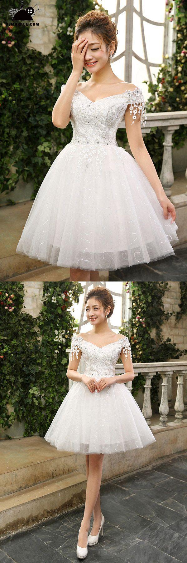Pin On Sweet Short Wedding Dress [ 1800 x 600 Pixel ]