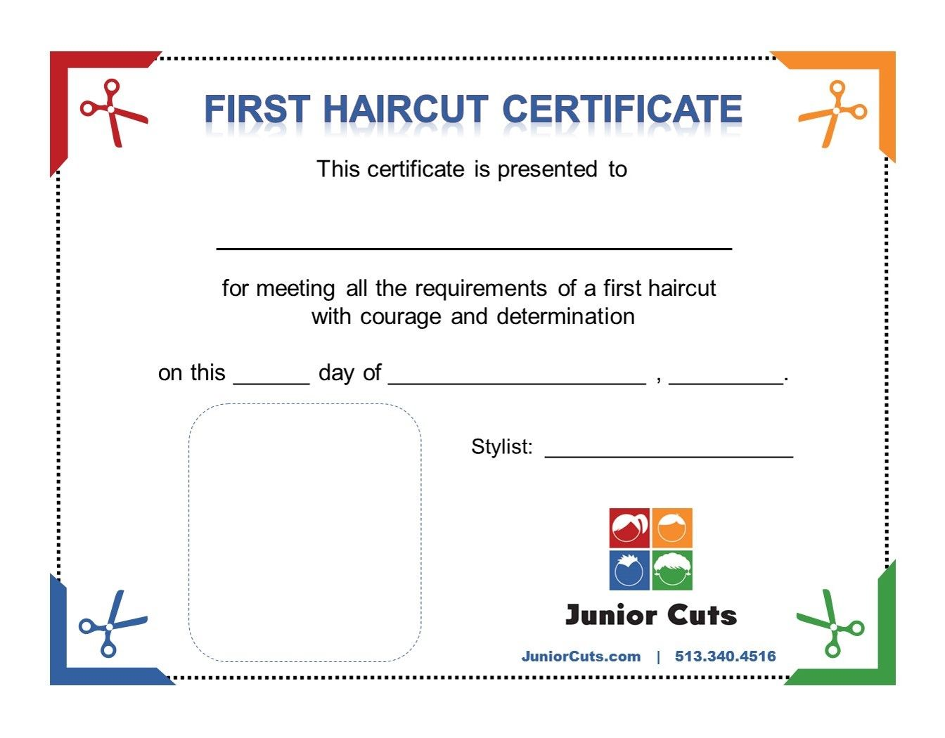 Every first haircut at junior cuts receives a commemorative every first haircut at junior cuts receives a commemorative certificate and a souvenir lock of hair 1betcityfo Gallery