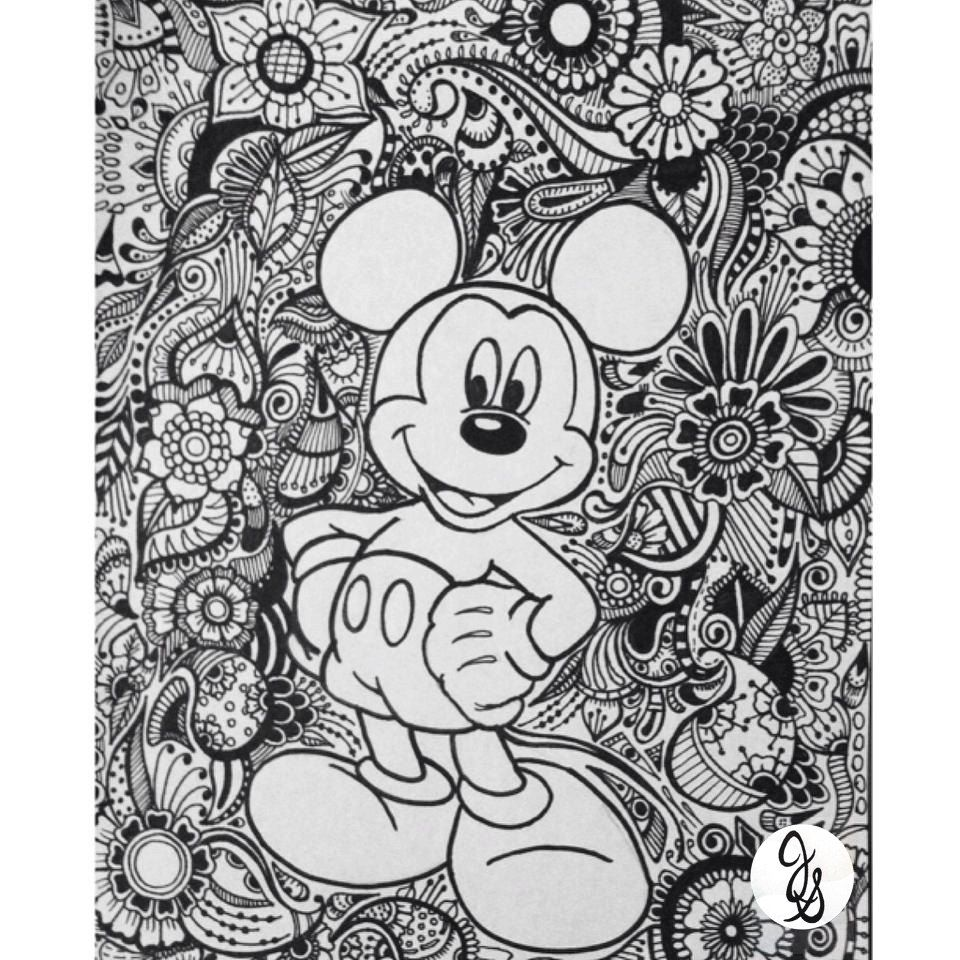 Mickey and Minnie Design | Minnie, Mandalas y Dibujo