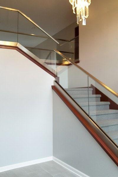 Glass Railings   Glass railing, Glass railing stairs, Glass