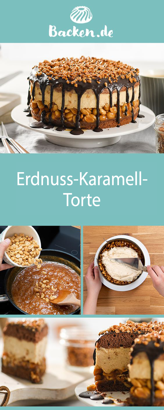 Erdnuss-Karamell-Torte