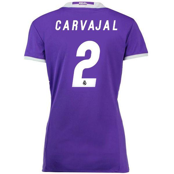 b2338af68 16 17 Dani Carvajal Jersey Number 2 Away Women s Real Madrid Soccer ...
