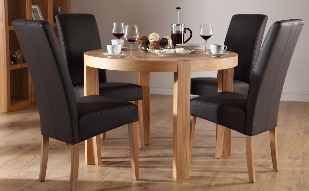 Resemblance of Round Dining Table Set for 4