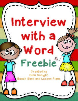 Creative Ways To Write Words interview with a word freebie - creative way to explore vocabulary
