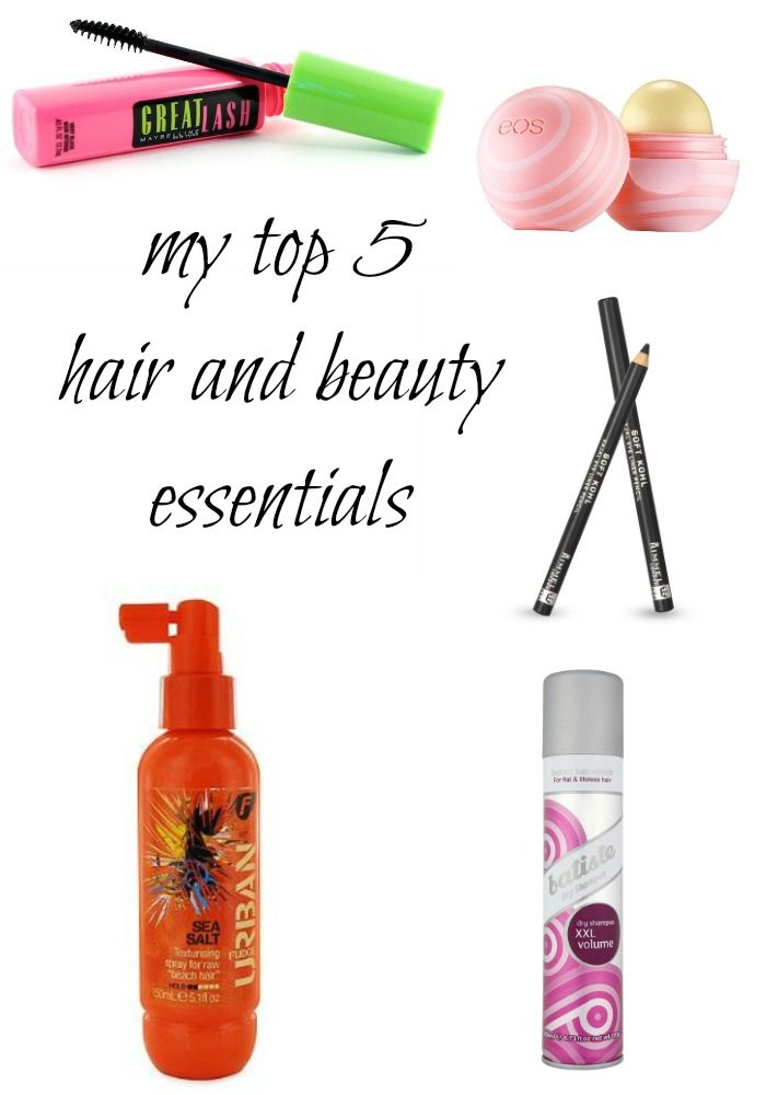 My Top 5 Hair and Beauty Essentials